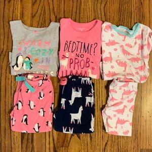 Lot of Toddler Girl Pajamas